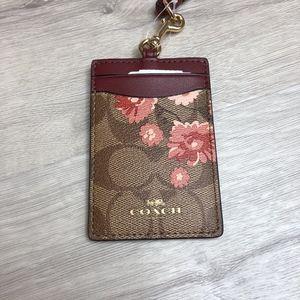 Coach Bags - COACH ID LANYARD PRAIRIE DAISY CARD CASE WALLET